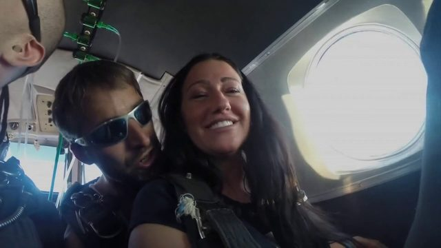 Falling in love at 10,000 feet; engaged Roanoke couple met while skydiving