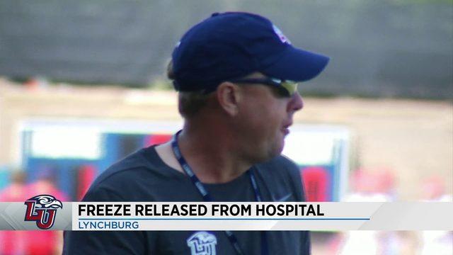 Liberty head coach Hugh Freeze released from hospital