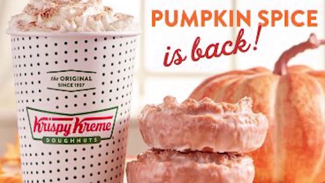 Krispy Kreme gets in on the pumpkin spice craze