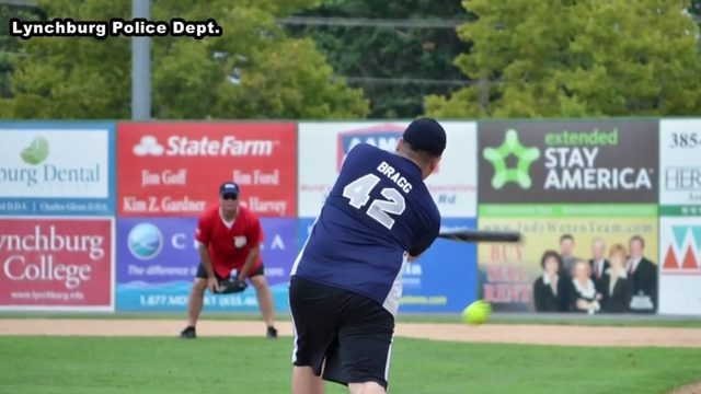 Local first responders put down guns, hoses for annual softball game