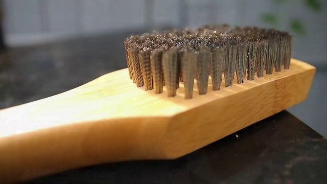 Do you need to worry about metal brush bristles when grilling?
