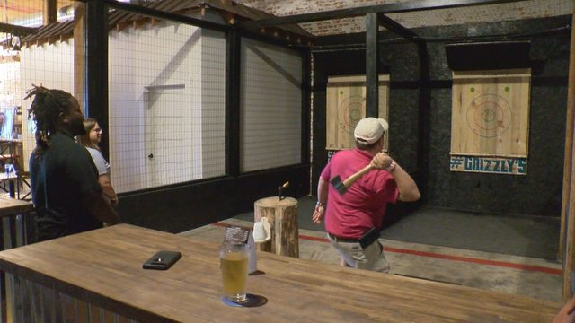 Ax throwing proves popular in Danville