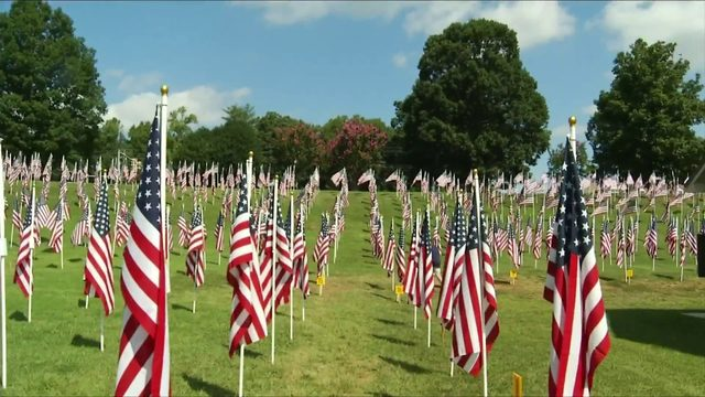1,200 American flags spread out on Field of Honor in Lynchburg