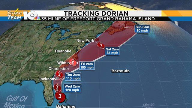 Dorian has 'weakened' into a Category 3 hurricane