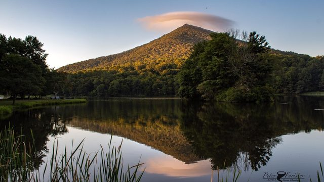 Labor Day lenticular cloud appears over Sharp Top