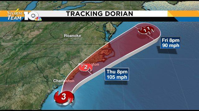 Hurricane Dorian - Sept 4.- 11 p.m. update