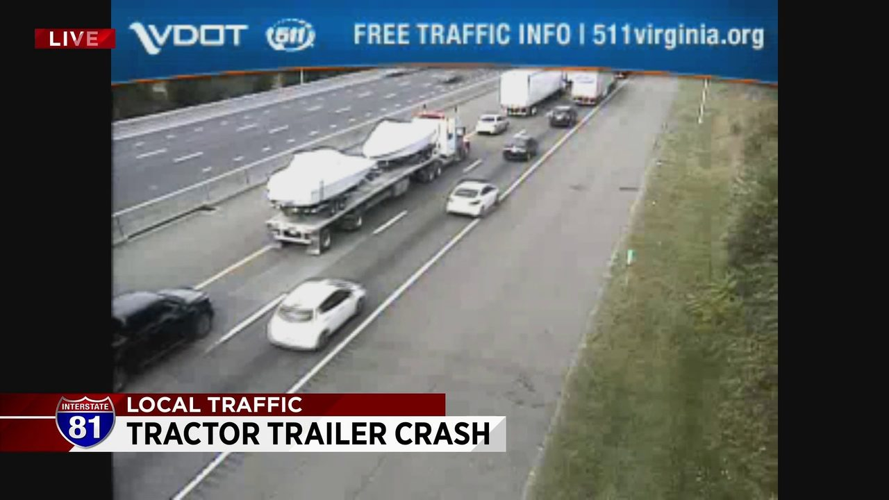 Tractor-trailer crash causes delays in Montgomery County
