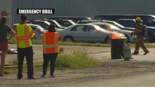 First responders practice hazmat skills in massive drill