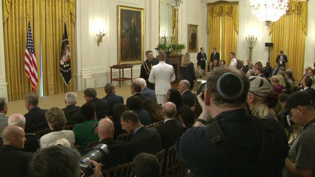 WATCH LIVE: President Trump presents Medal of Valor to Dayton police officers