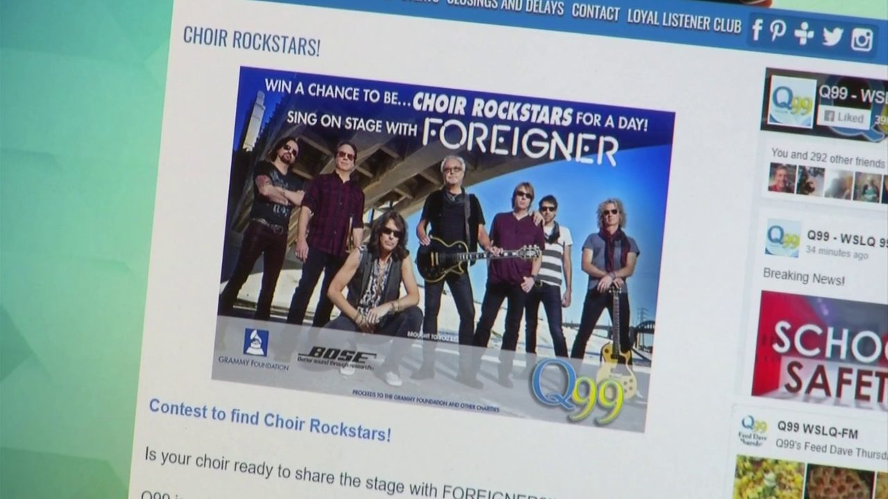 High School choirs have chance to sing with rock band Foreigner