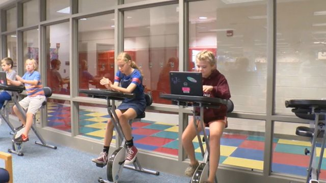 Stationary bikes increase Blacksburg Middle School students' educational…