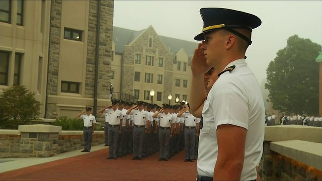 Virginia Tech Corps of Cadets salutes 9/11 victims
