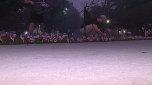 Thousands of flags put on display at Radford University in honor of 9/11