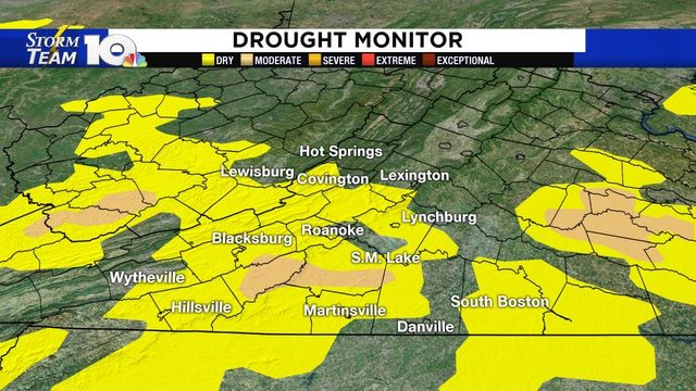 Parts of our area officially under a drought, per Thursday Drought…