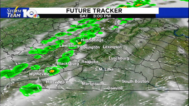 Saturday morning drizzle, afternoon storms possible