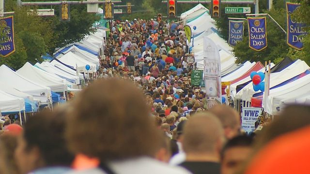 Visitors crowd Salem's Main Street for Olde Salem Days