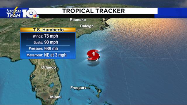 Humberto becomes a Category 1 Hurricane