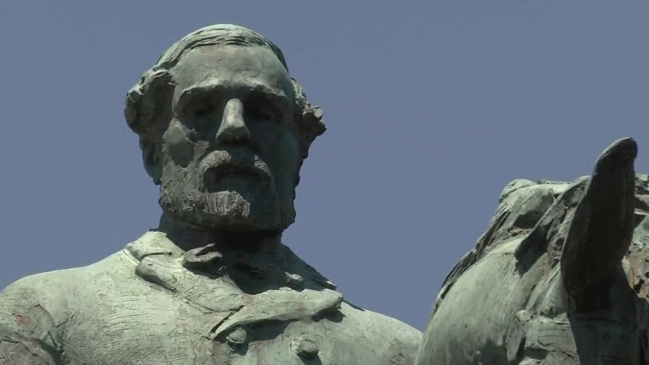 Controversial Civil War statue in Virginia vandalized again