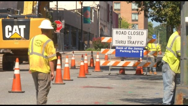 Construction for Lynchburg's 2-year Main Street Renewal project begins
