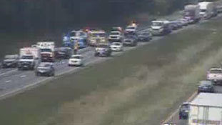 Accident causes 5-mile backup on I-81 in Roanoke County