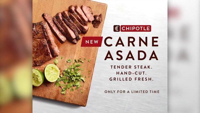 Chipotle bringing carne asada to 2,000 stores