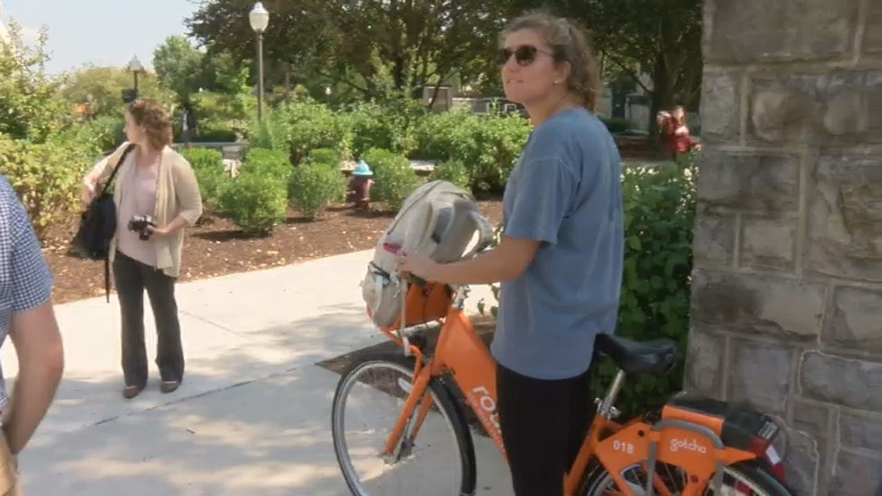sustainable eats bike tour held at virginia tech