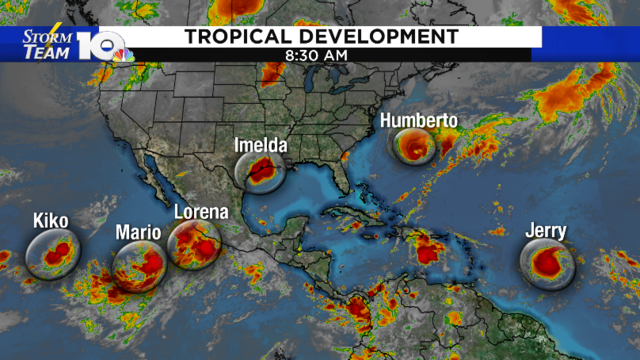 Active tropics with multiple named storms