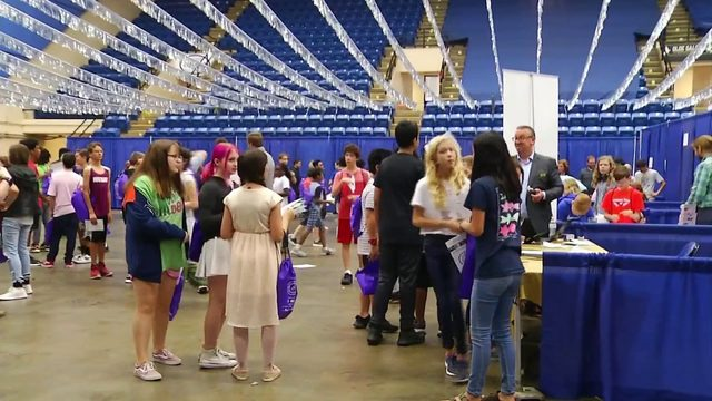 Thousands of middle school students hunt for dream job