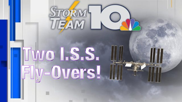 International Space Station to make two passes over our region