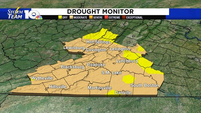 DROUGHT UPDATE: Almost all of our area now officially in a drought