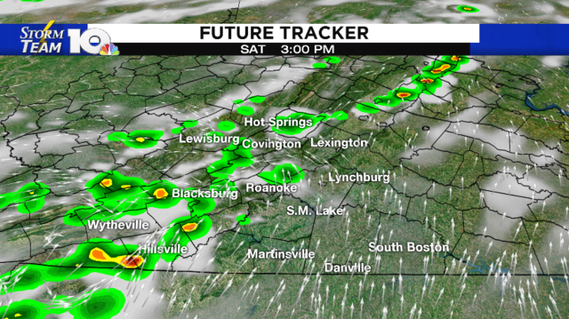 Tracking afternoon showers and storms