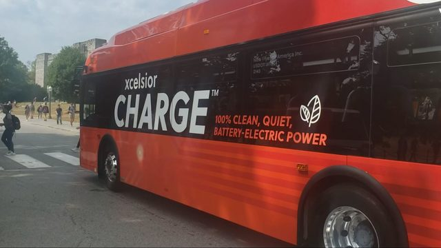 Virginia Tech testing new, all-electric buses
