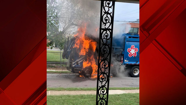Roanoke Fire-EMS investigating cause of garbage truck fire