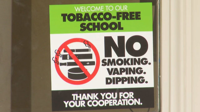 New Roanoke school signs say no to vaping, smoking, all tobacco use on…