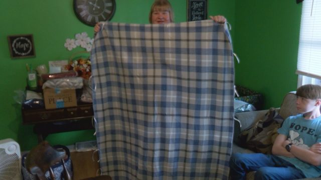Danville teen recovering from brain surgery making prayer blankets for people