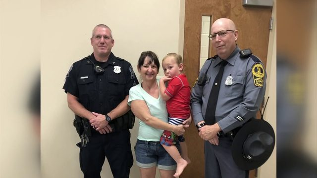 'Best birthday ever': Strangers, police officers save 3-year-old's party