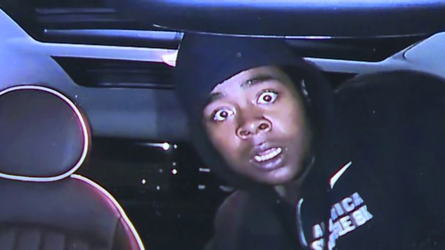 Dashcam catches car thief in the act, captures his stunned face