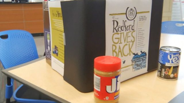 Radford University collects food for kids in need
