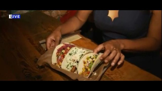 Inside the kitchen at Tuco's for National Taco Day