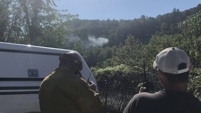 Brush fire in Jefferson National Forest now at 20 acres