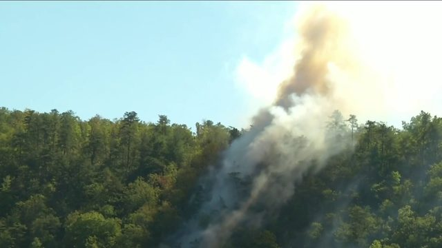 U.S. Forest Service crews work to battle Cliff Fire