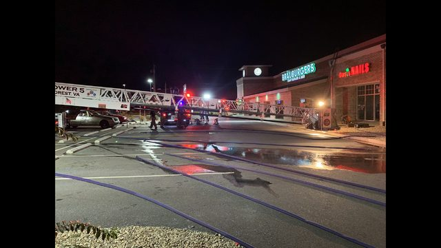 Fire in Forest damages nail salon