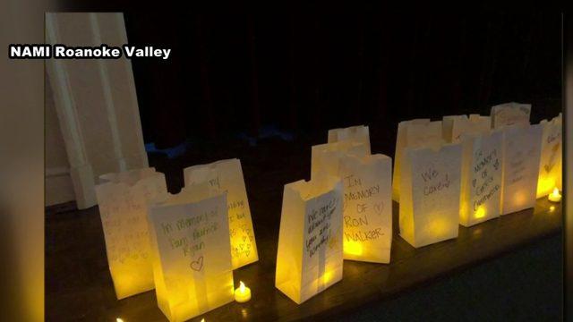 NAMI Roanoke Valley hosts candlelight vigil for mental health awareness