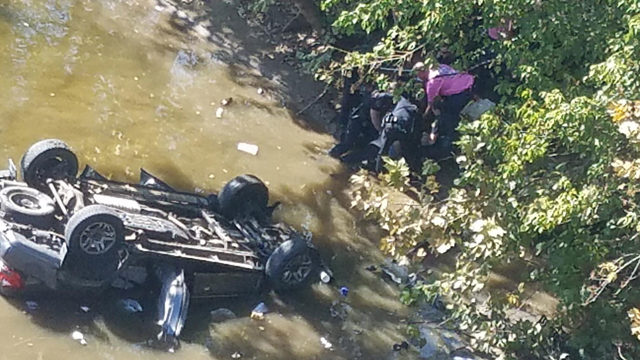 One dead, one in critical condition after car crashes into James River…