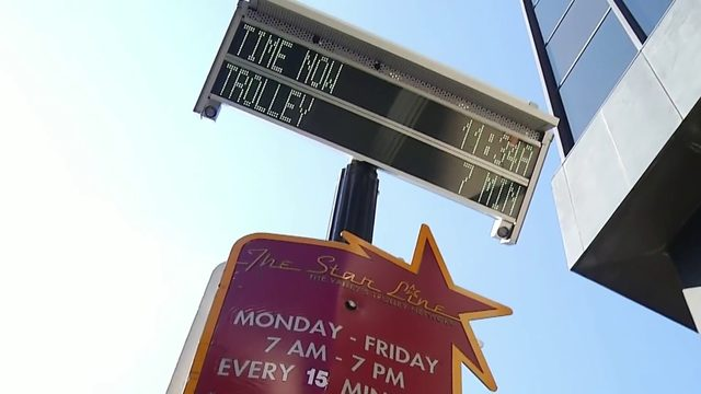 Valley Metro installs new digital sign to track Star Line Trolley times
