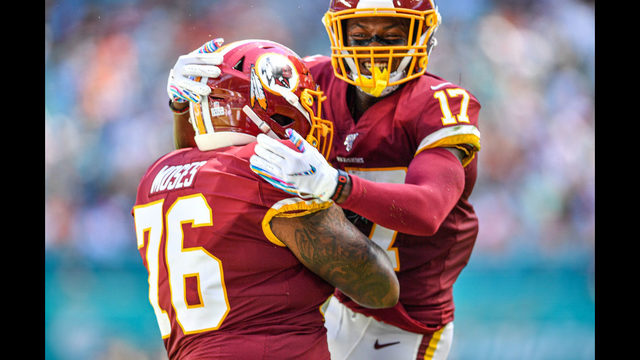 McLaurin helps Redskins earn 1st win against Dolphins, 17-16