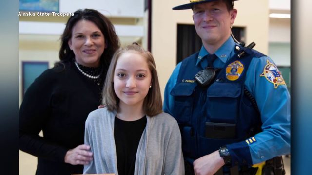 Alaska girl saves mom who had a seizure while driving