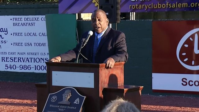 Salem dedicates 'Billy Sample Field' in honor of local baseball legend