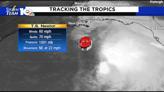 Nestor is now a tropical storm