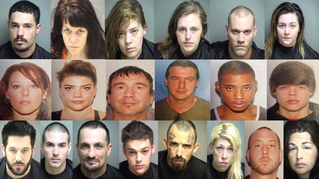 20 people arrested for drug, firearms charges in Amherst County